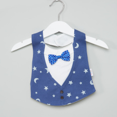 Juniors Printed Bib with Bow Detail