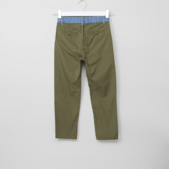 Bossini Pocket Detail Pants with Button Closure