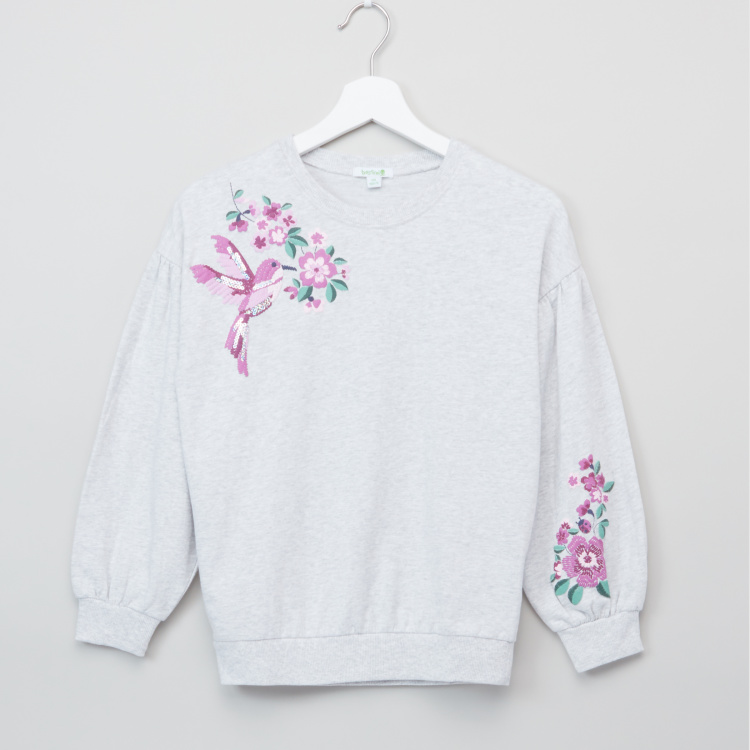 Bossini Embroidered Long Sleeves Sweat Top