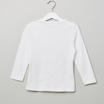 Bossini Long Sleeves Applique Detail T-Shirt