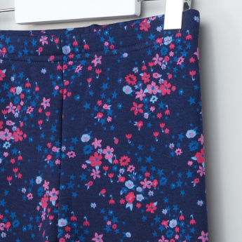 Bossini Floral Printed Leggings with Elasticised Waistband