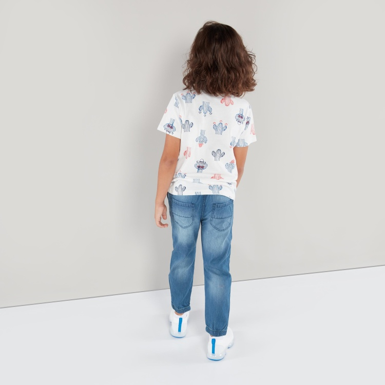 Bossini Cactus Printed T-shirt with Contrast Patch Pocket