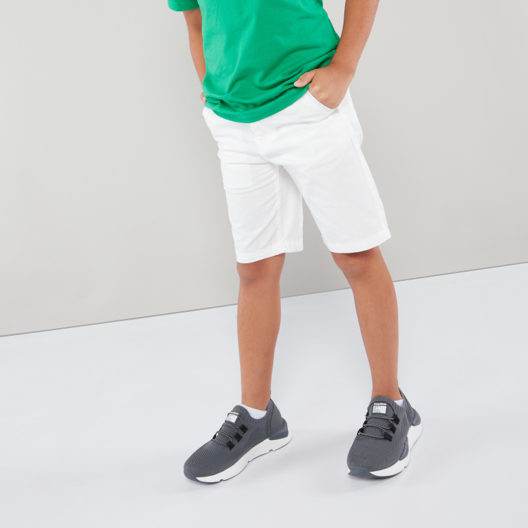Bossini Solid Shorts with Pocket Detail