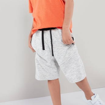 Bossini Heathered Knit Shorts with Zippered Pockets