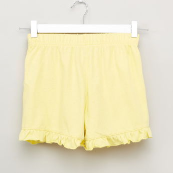 Bossini Shorts with Ruffle and Pocket Detail