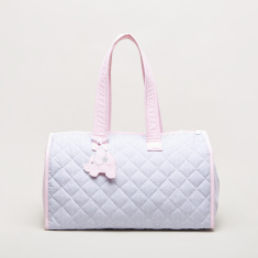 Cambrass Fante Quilted Diaper Bag with Elephant Applique Detail