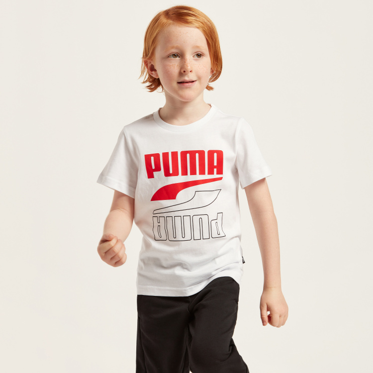 Puma Print T-shirt with Short Sleeves