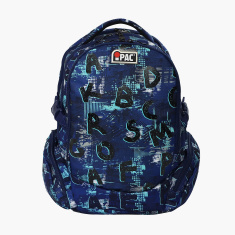 Simba iPac Printed Backpack with Adjustable Straps and Zip Closure