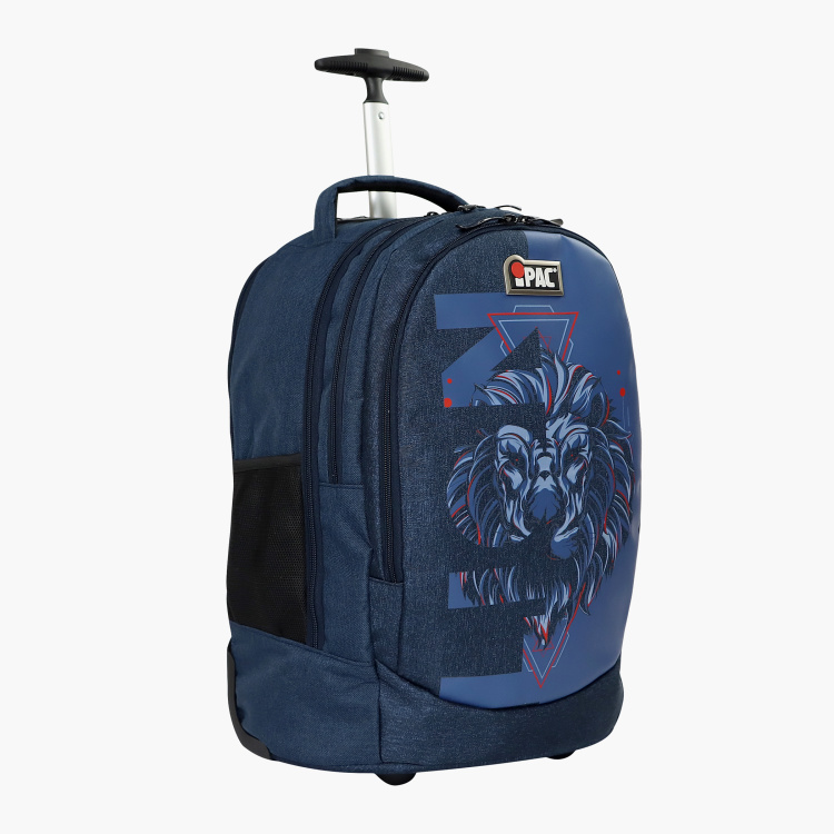 iPac Lion Print Trolley Backpack with Retractable Handle