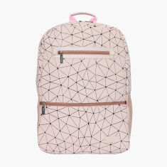 Fusion Printed Backpack with Adjustable Straps and Zip Closure