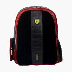 Ferrari Print Backpack with Adjustable Straps - 16 inches