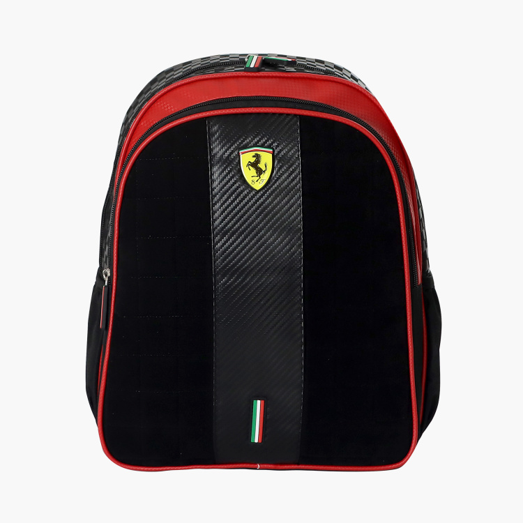 Ferrari Print Backpack with Adjustable Straps - 14 inches