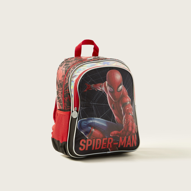 Spider-Man Print Backpack with Adjustable Straps - 16 inches