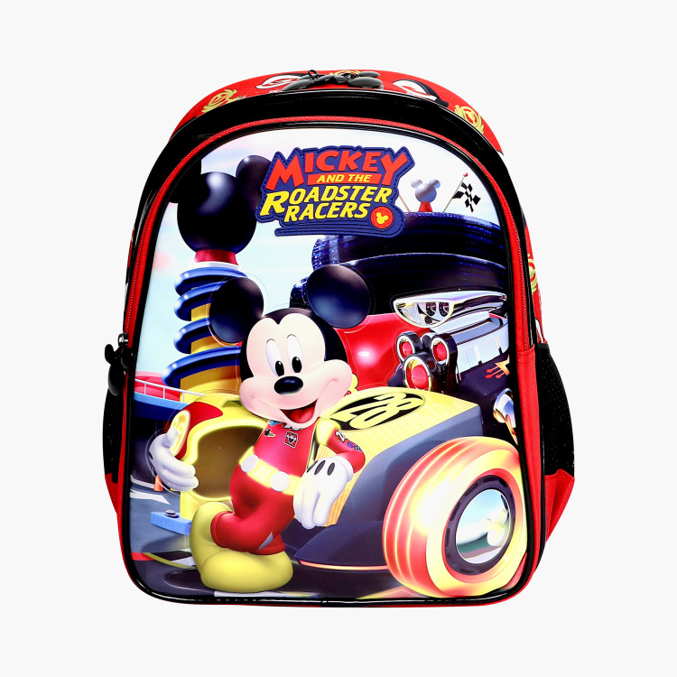 Disney Mickey Mouse Print Backpack - 14 inches