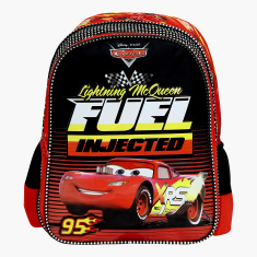 Disney Cars Fuel Injected Print Backpack with Zip Closure - 16 inches