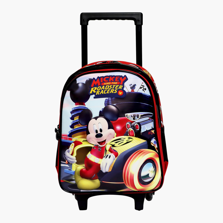 Disney Mickey Mouse Print Trolley Backpack - 14 inches