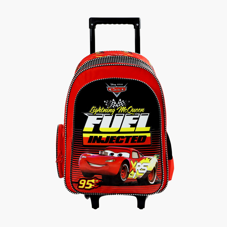 Disney Cars Fuel Injected Print Trolley Backpack - 18 inches