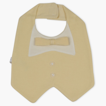Juniors Bow Detail Bib with Hook and Loop Closure