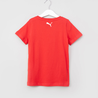 PUMA Alpha Graphic Printed T-shirt with Round Neck