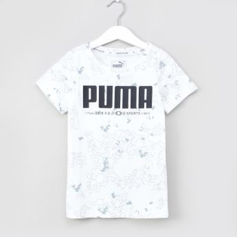 PUMA Active Sports Printed T-shirt with Round Neck