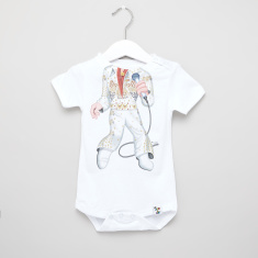 Just Add A Kids The King Print Bodysuit with Round Neck