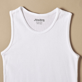 Juniors Sleeveless T-Shirt with Round Neck
