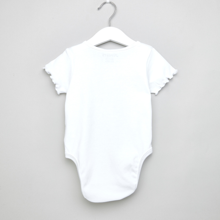 Juniors Short Sleeves Bodysuit