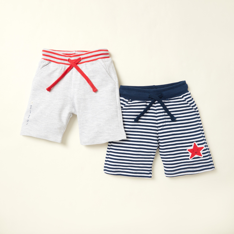 Juniors Knit Shorts with Pockets and Elasticated Waist - Set of 2