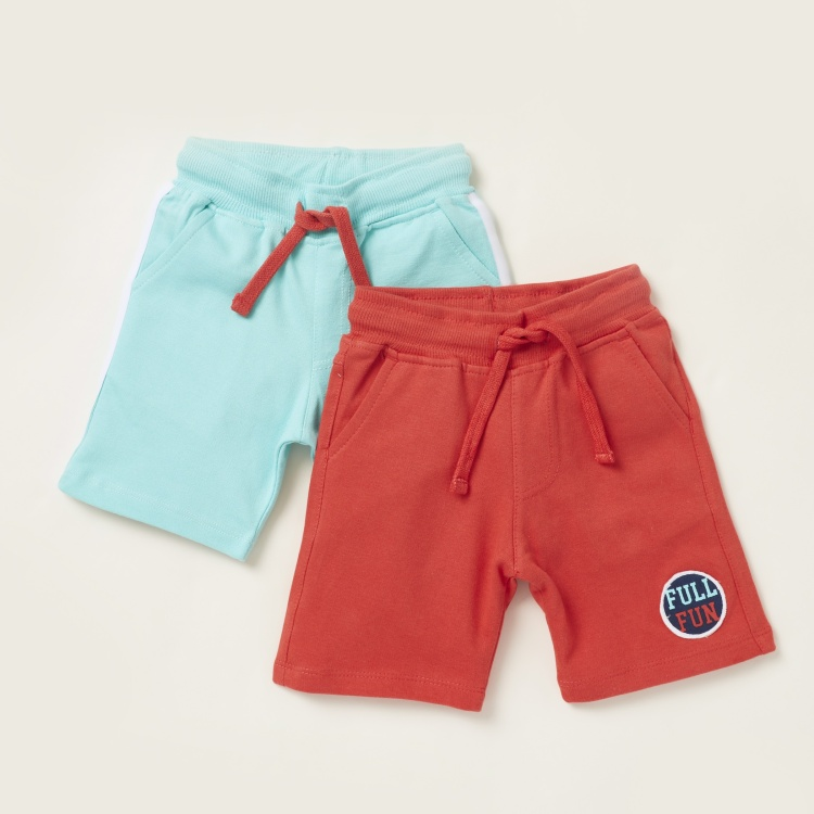 Juniors Solid Shorts with Drawstring Closure - Set of 2