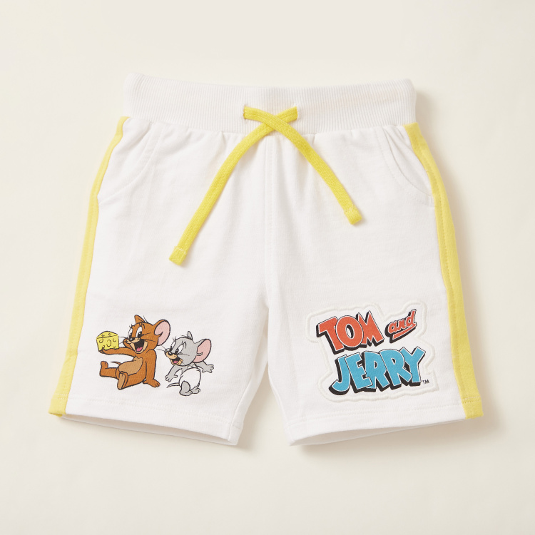 Tom and Jerry Printed Round Neck T-shirt and Shorts Set