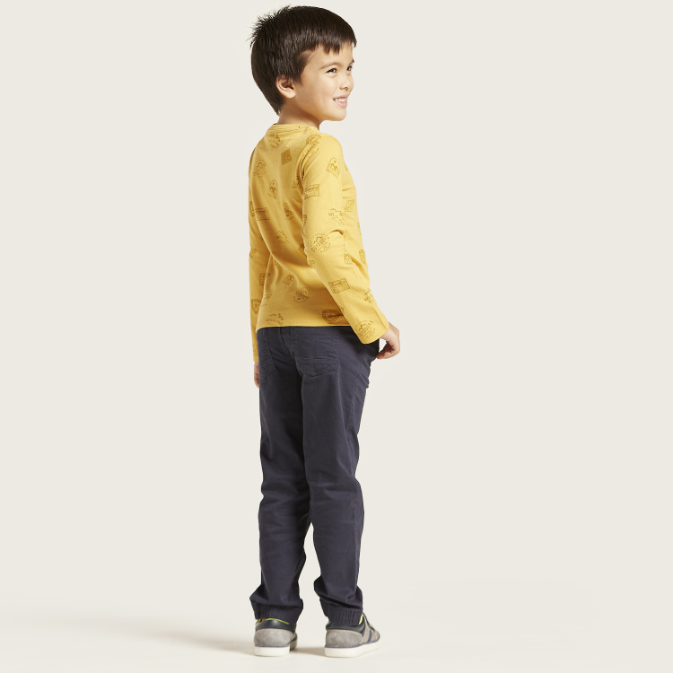 Juniors Solid Pants with Pockets and Elasticated Drawstring Waist