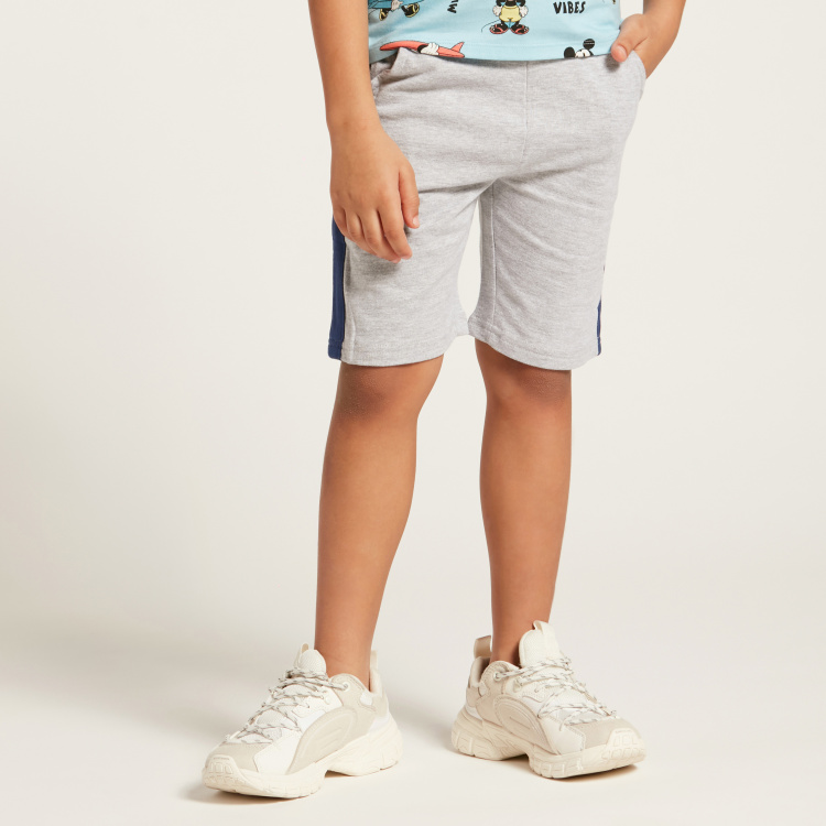Juniors Panelled Shorts with Drawstring Closure and Pockets
