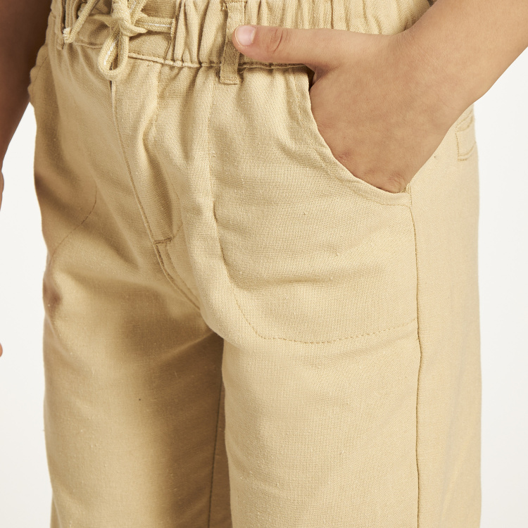 Eligo Solid Woven Pants with Drawstring Closure
