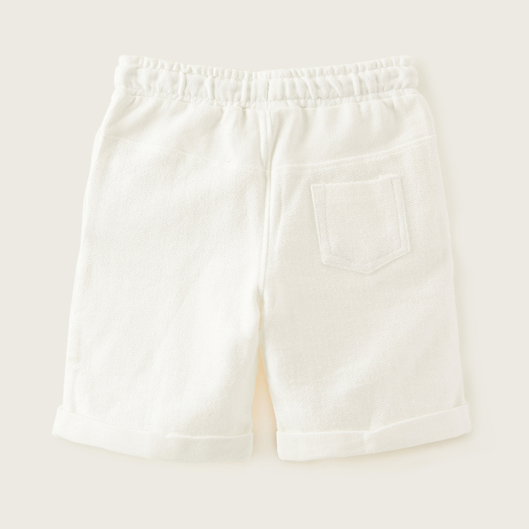 Eligo Solid Shorts with Pockets and Drawstring Closure