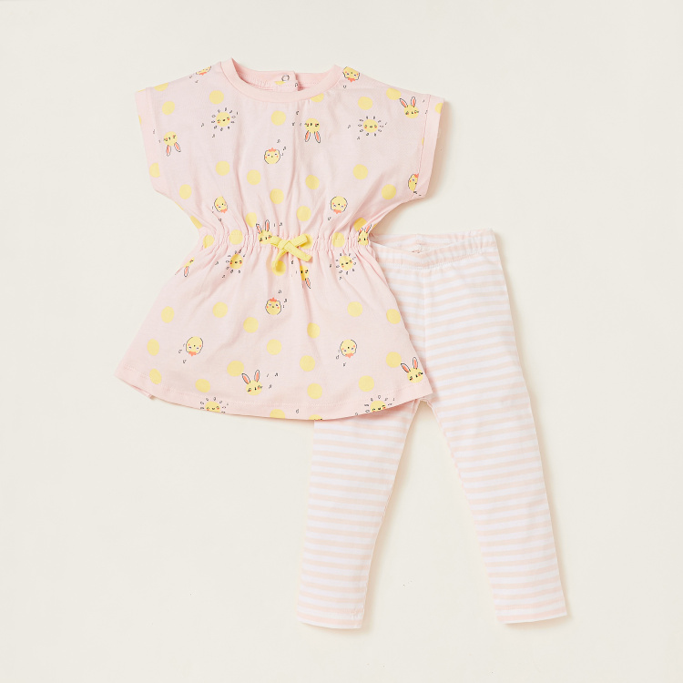 Juniors Printed Tunic and Leggings Set