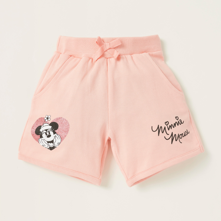 Disney Minnie Mouse Print T-shirt and Shorts Set