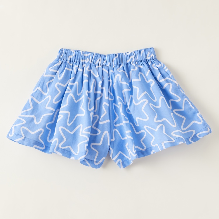Juniors All-Over Star Print Shorts with Elasticised Waistband