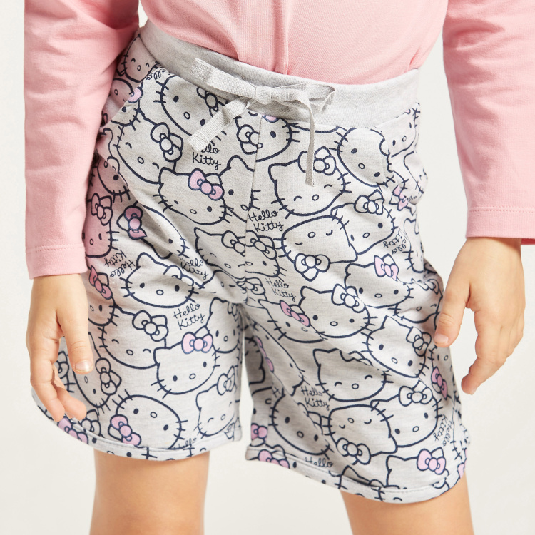 Hello Kitty Graphic Print Shorts with Elasticised Waistband