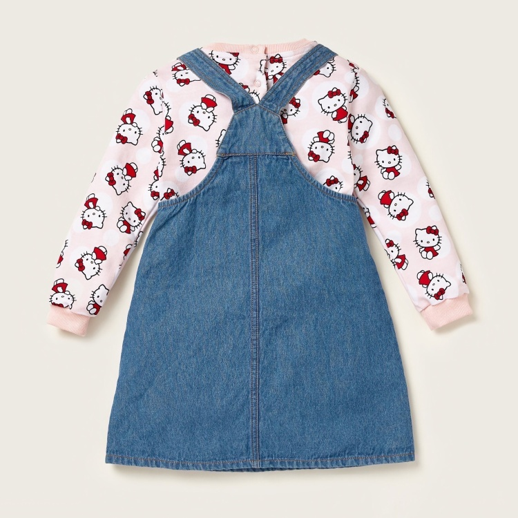 Sanrio Hello Kitty Print Pullover and Pinny Set