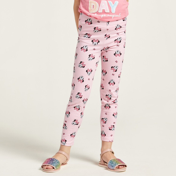 Minnie Mouse All-Over Print Leggings with Elasticised Waist