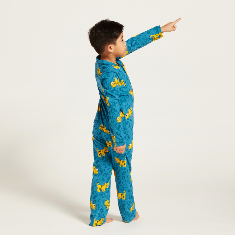 Juniors Printed Long Sleeves Shirt and Pyjama Set