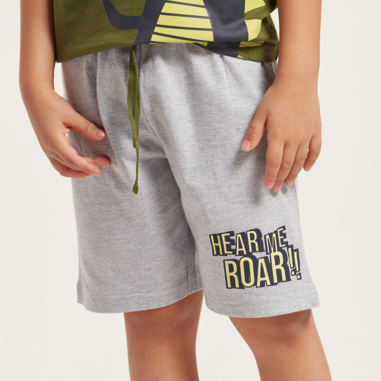 Juniors Graphic Print T-shirt and Shorts Set