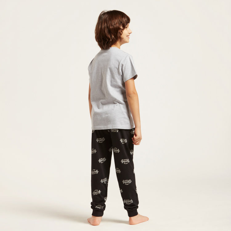 Juniors Printed 4-Piece T-shirt and Full Length Pyjama Set