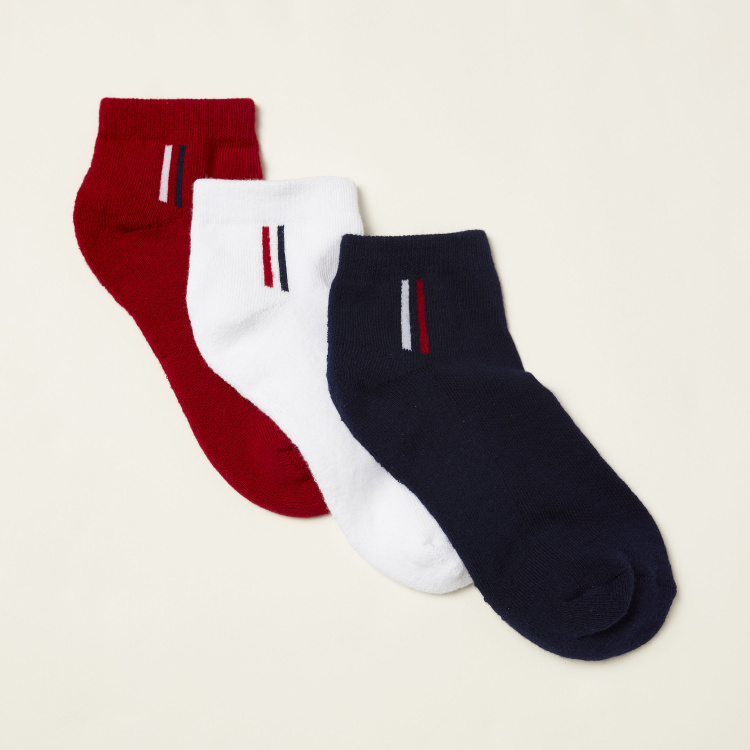 Juniors Solid Ankle Length Socks - Set of 3