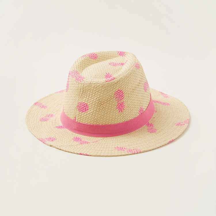 Juniors Pineapple Print Hat