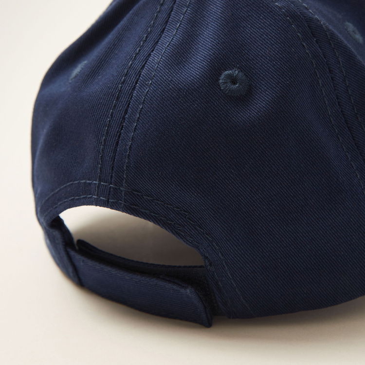 Juniors Applique Detail Cap with Hook and Loop Closure