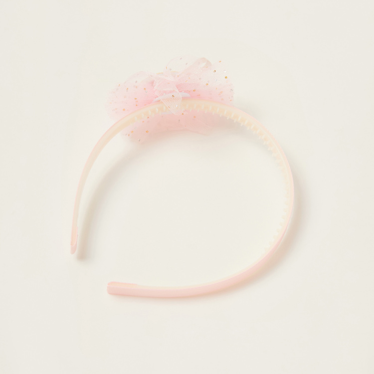 Juniors Solid Hairband with Bow Detail