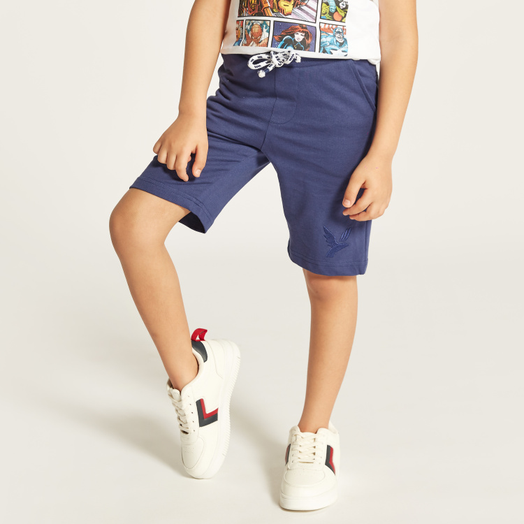 Juniors Solid Jog Pants with Pocket Detail and Drawstring Closure