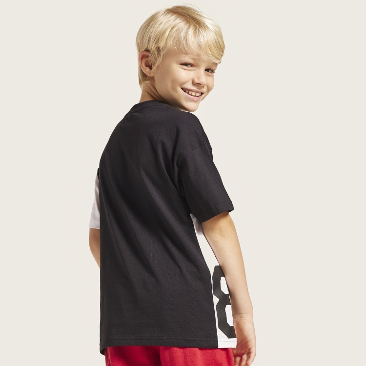 Bossini Colourblock T-shirt with Round Neck and Short Sleeves