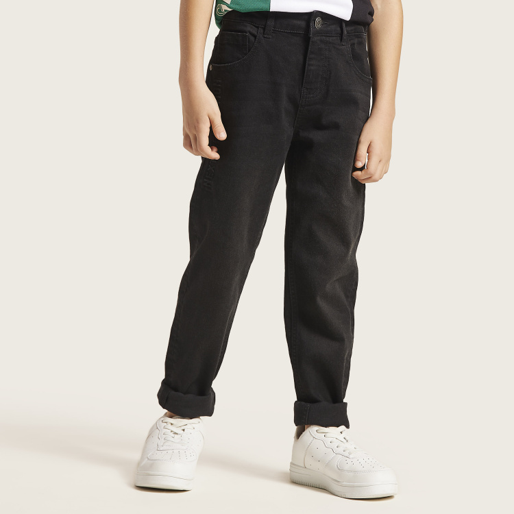 Bossini Solid Denim Pants with 5-Pockets